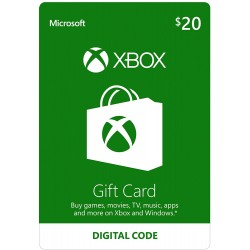 Xbox Live Gift Card 20 DOLARES