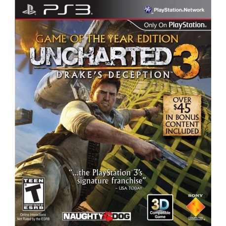 Uncharted 3 Game Of The Year Ps3 Digital