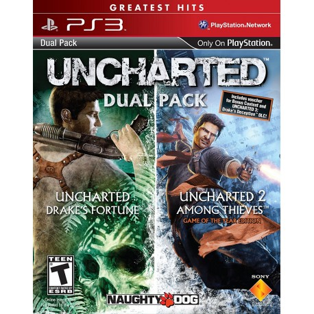 Uncharted Drake's Fortune + Uncharted 2 Among Thieves Ps3 Digital Pack